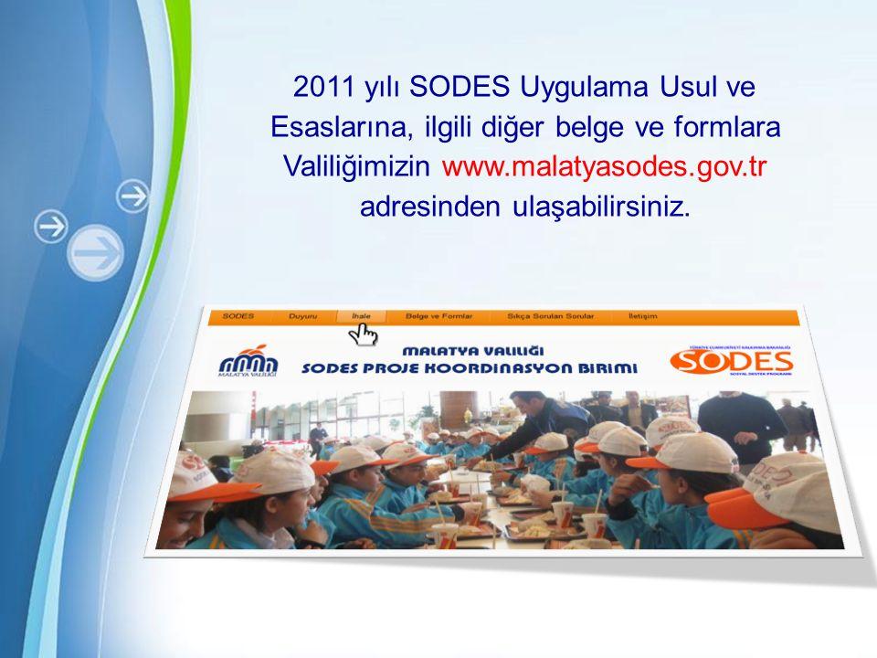 2011 yılı SODES Uygulama Usul ve Esaslarına, ilgili diğer belge ve formlara Valiliğimizin www.malatyasodes.gov.tr adresinden ulaşabilirsiniz.