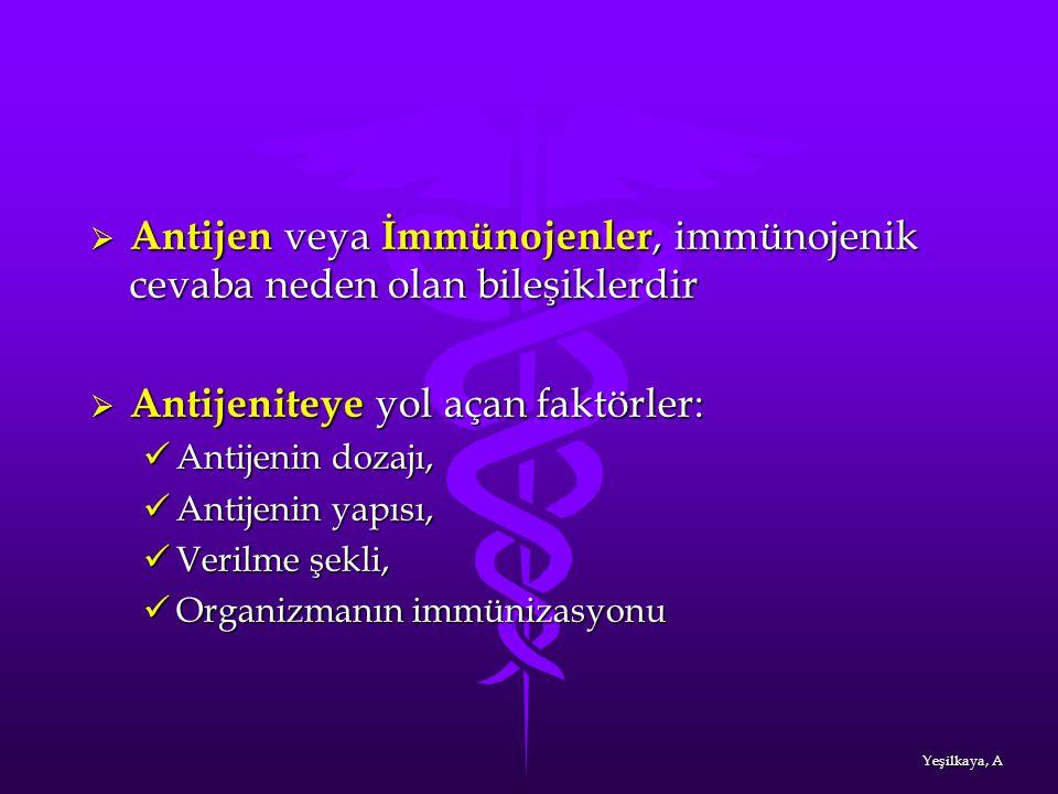 Antijen veya İmmünojenler, immünojenik cevaba neden olan bileşiklerdir
