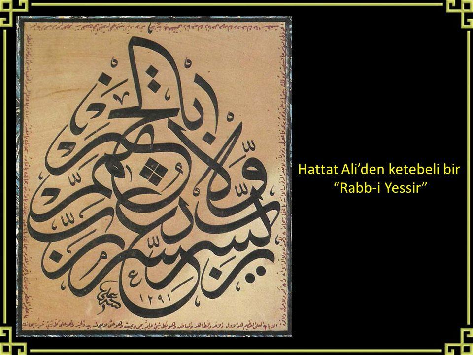 Hattat Ali'den ketebeli bir