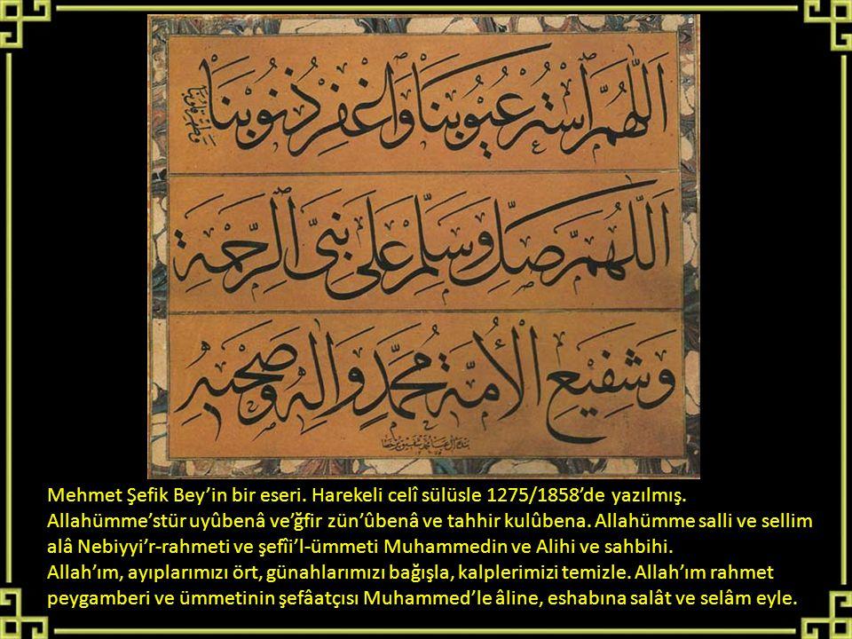 Mehmet Şefik Bey'in bir eseri