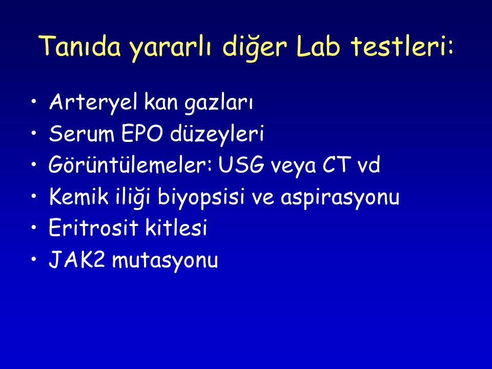 Tanıda yararlı diğer Lab testleri: