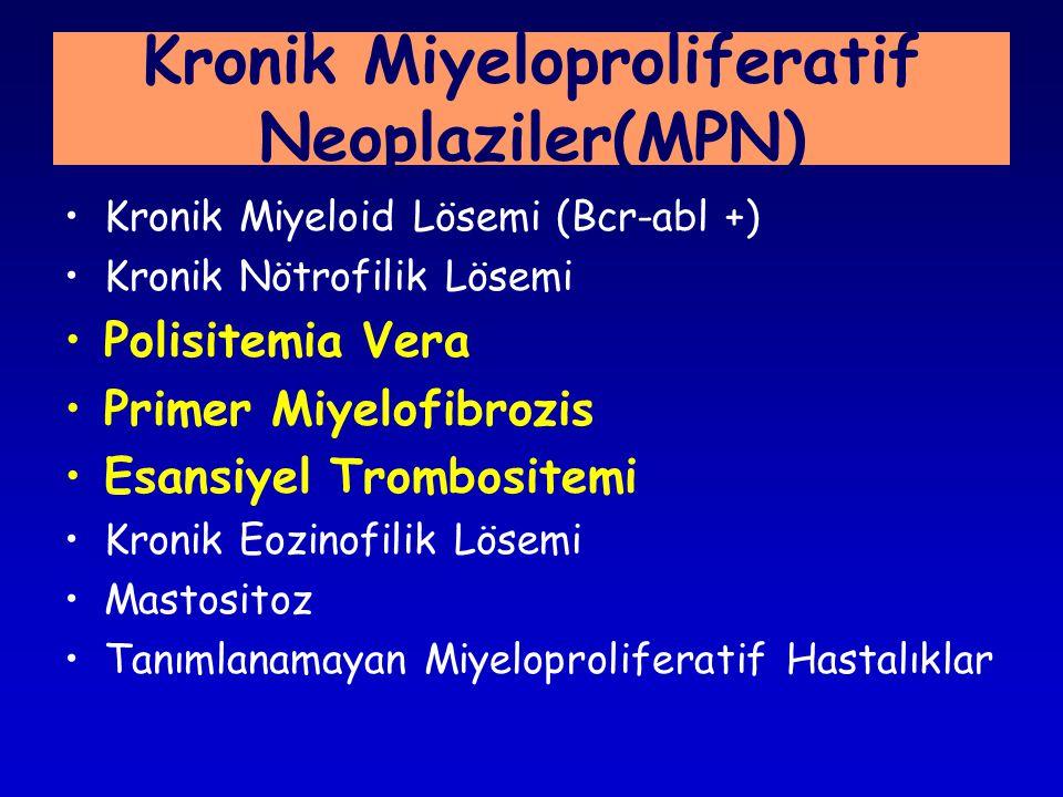 Kronik Miyeloproliferatif Neoplaziler(MPN)