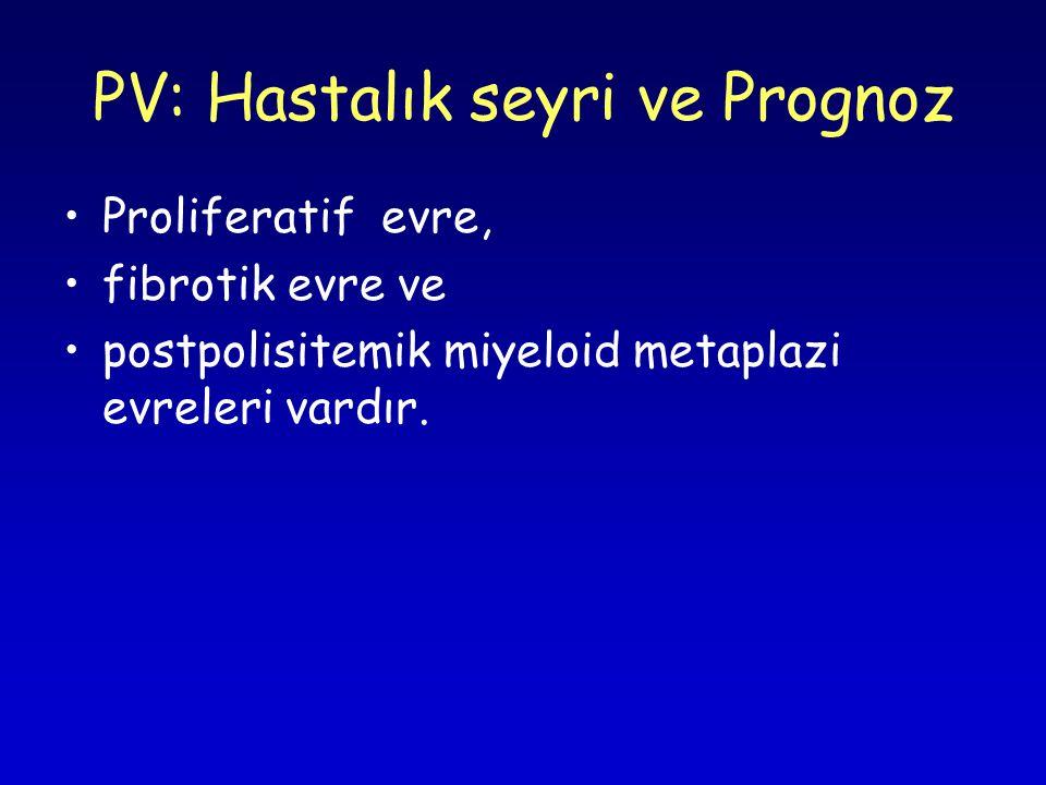 PV: Hastalık seyri ve Prognoz