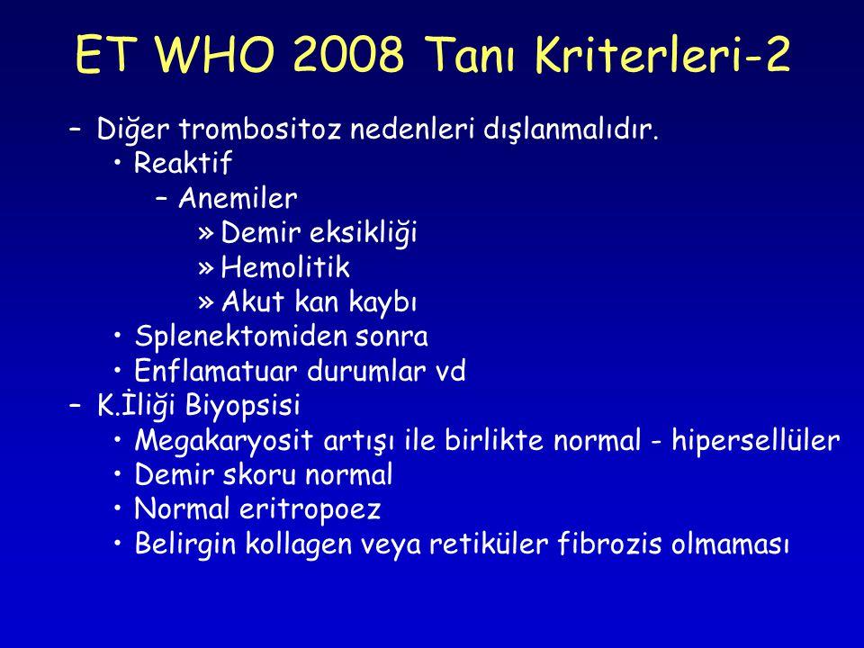 ET WHO 2008 Tanı Kriterleri-2