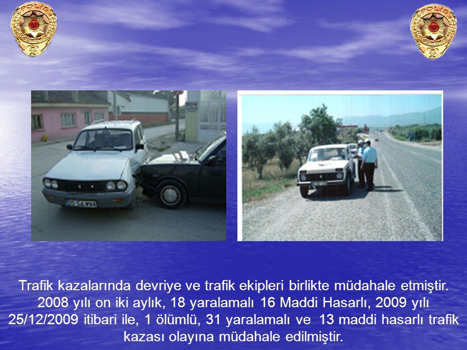 Trafik kazalarında devriye ve trafik ekipleri birlikte müdahale etmiştir.