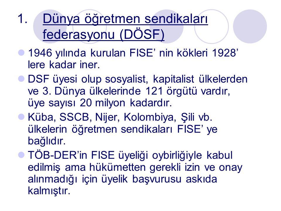 Dünya öğretmen sendikaları federasyonu (DÖSF)