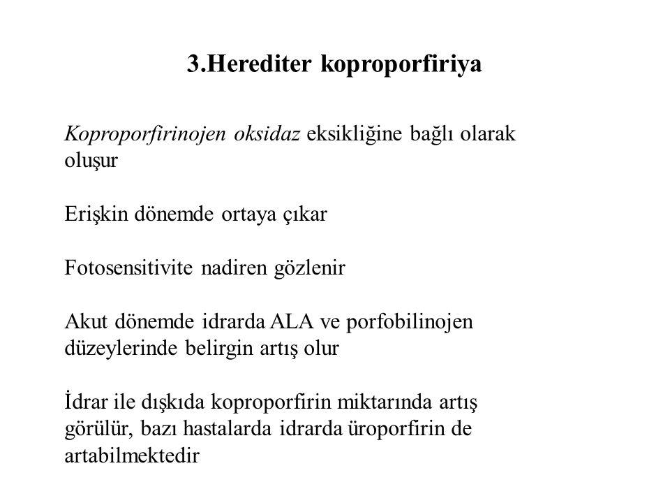 3.Herediter koproporfiriya
