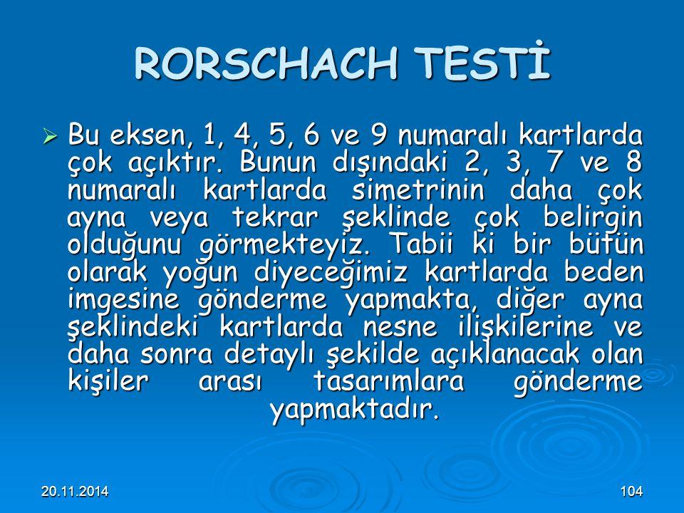 RORSCHACH TESTİ
