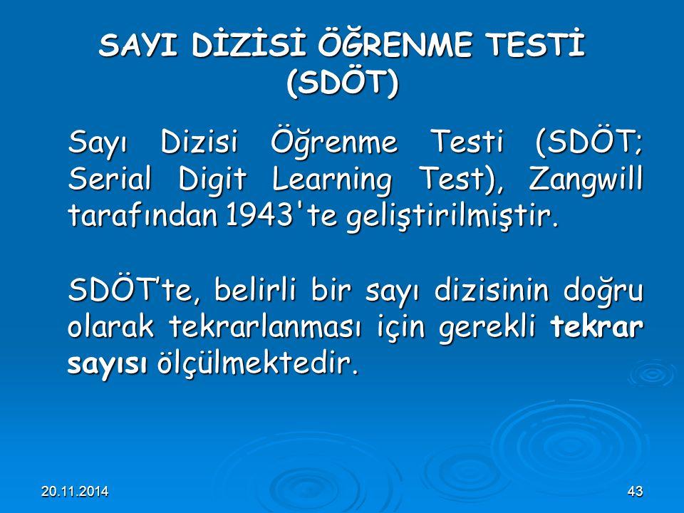 SAYI DİZİSİ ÖĞRENME TESTİ (SDÖT)