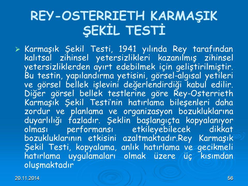REY-OSTERRIETH KARMAŞIK ŞEKİL TESTİ