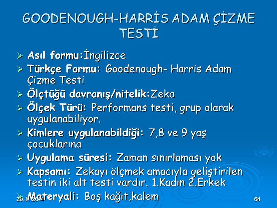 GOODENOUGH-HARRİS ADAM ÇİZME TESTİ