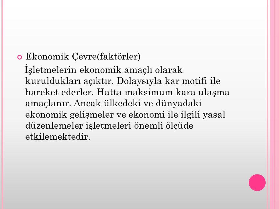 Ekonomik Çevre(faktörler)