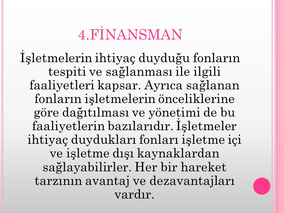 4.FİNANSMAN