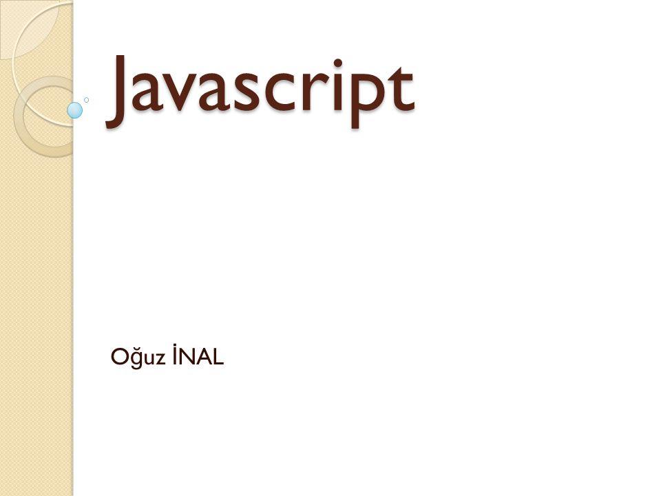 Javascript Oğuz İNAL