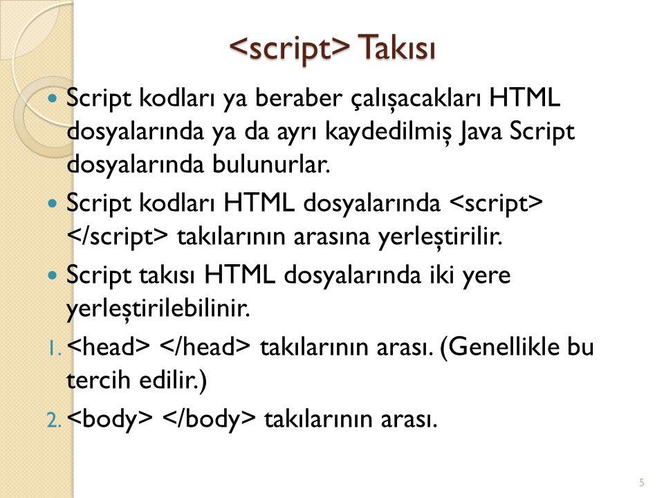 <script> Takısı
