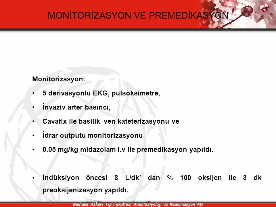MONİTORİZASYON VE PREMEDİKASYON