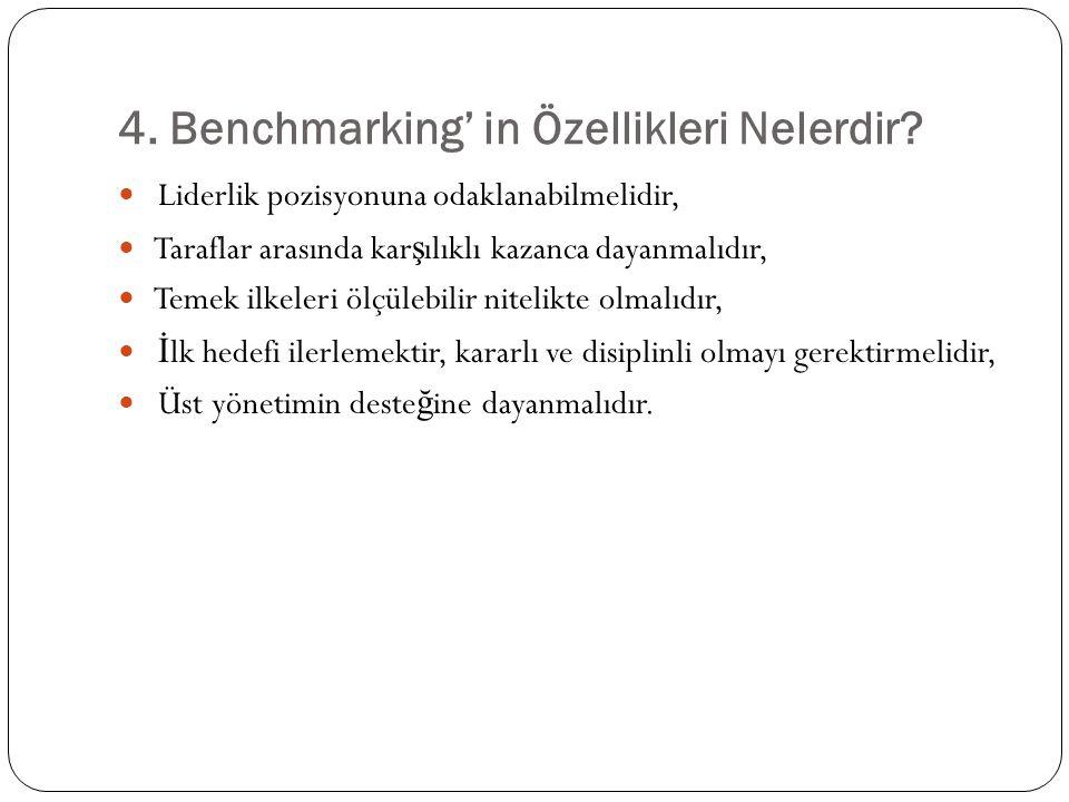 4. Benchmarking' in Özellikleri Nelerdir