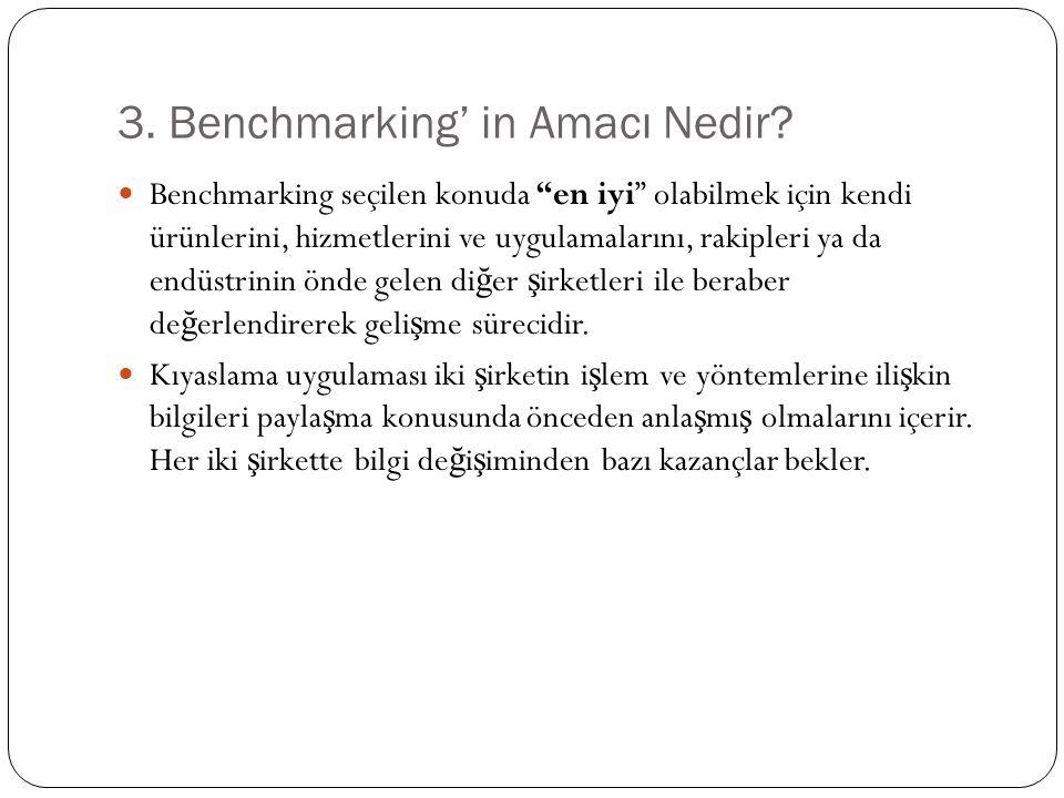 3. Benchmarking' in Amacı Nedir