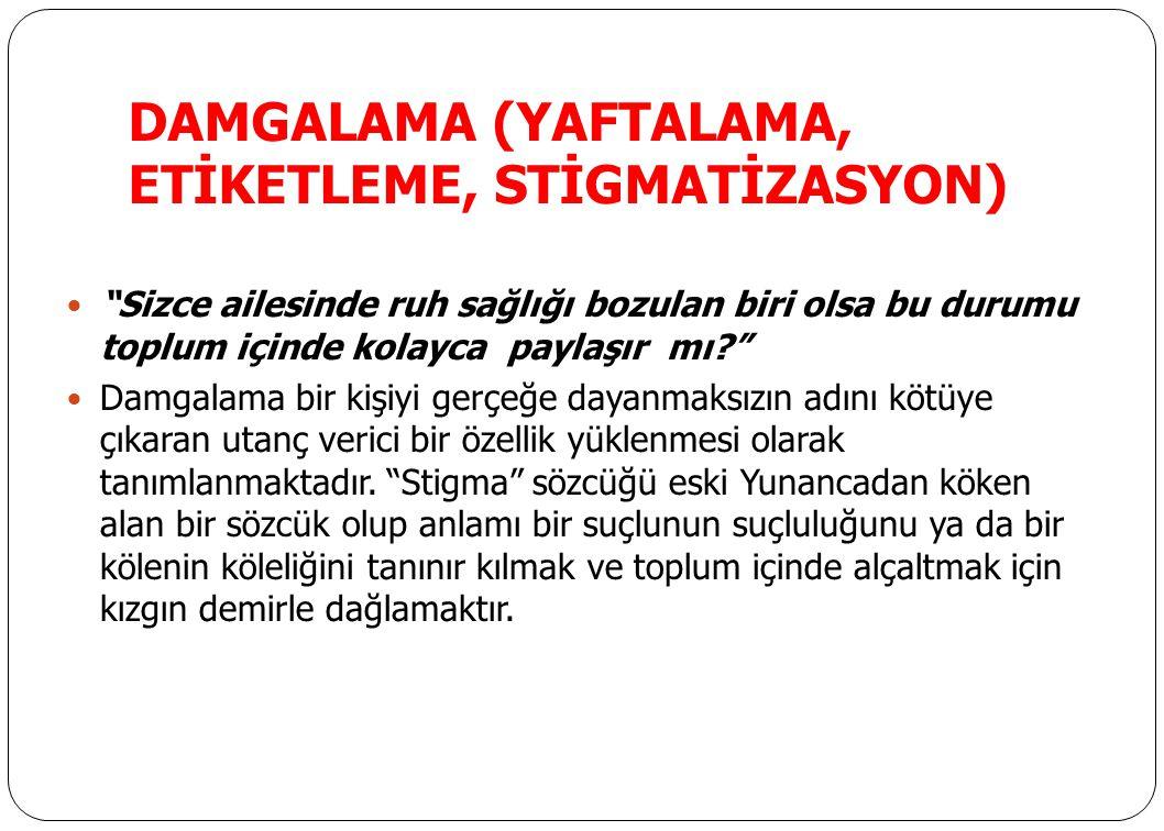 DAMGALAMA (YAFTALAMA, ETİKETLEME, STİGMATİZASYON)