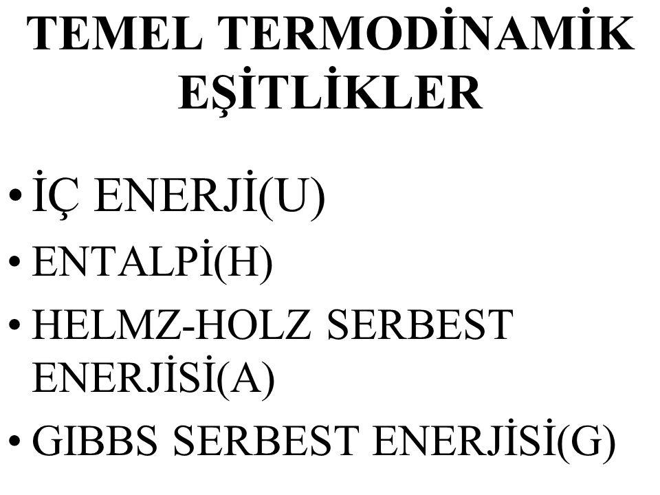 TEMEL TERMODİNAMİK EŞİTLİKLER