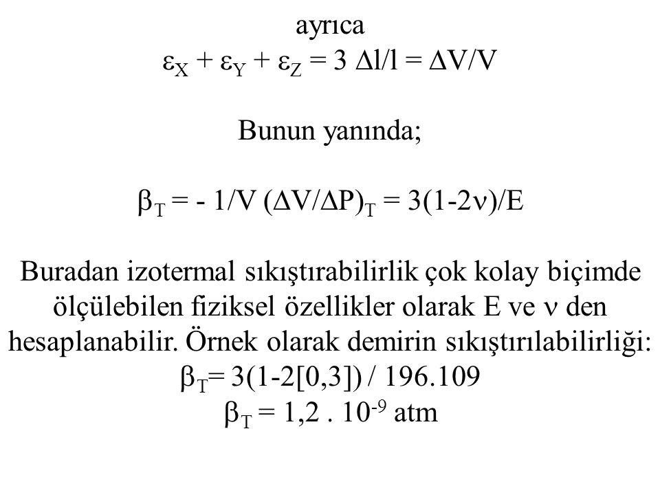 T = - 1/V (V/P)T = 3(1-2)/E