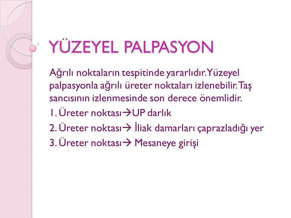 YÜZEYEL PALPASYON