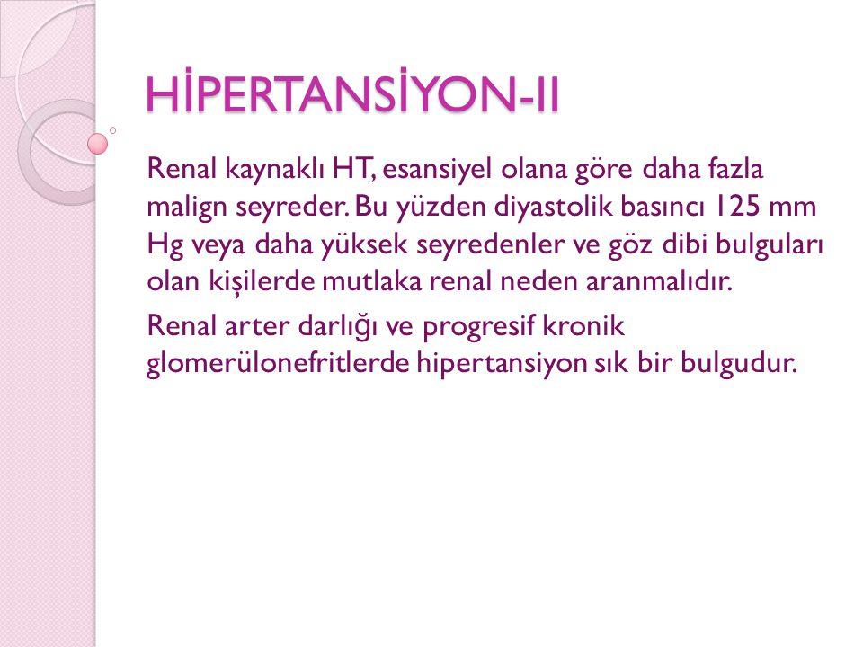 HİPERTANSİYON-II