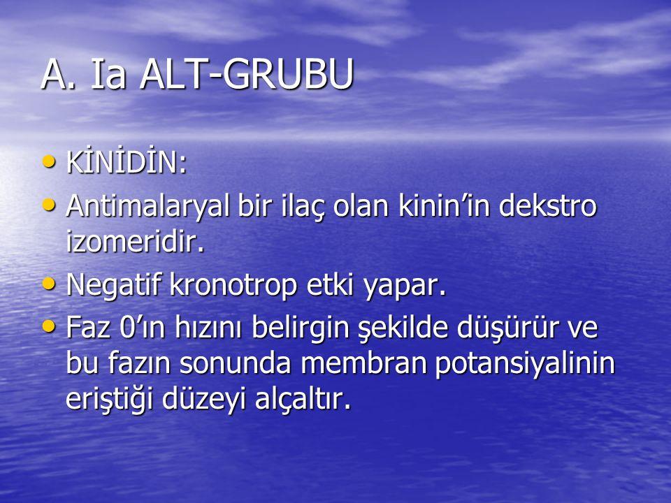 A. Ia ALT-GRUBU KİNİDİN: