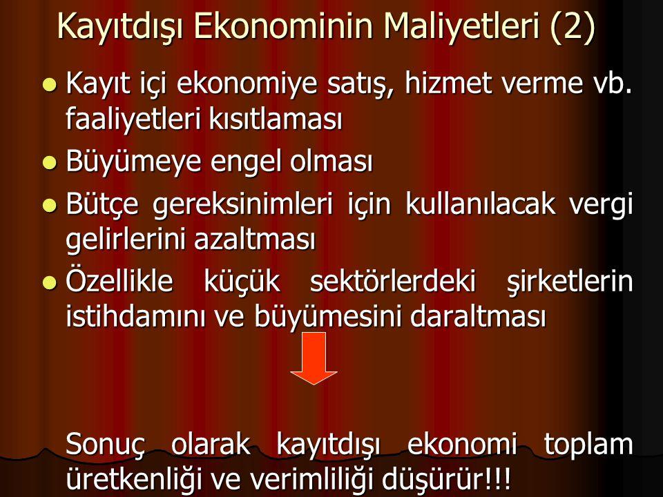 Kayıtdışı Ekonominin Maliyetleri (2)