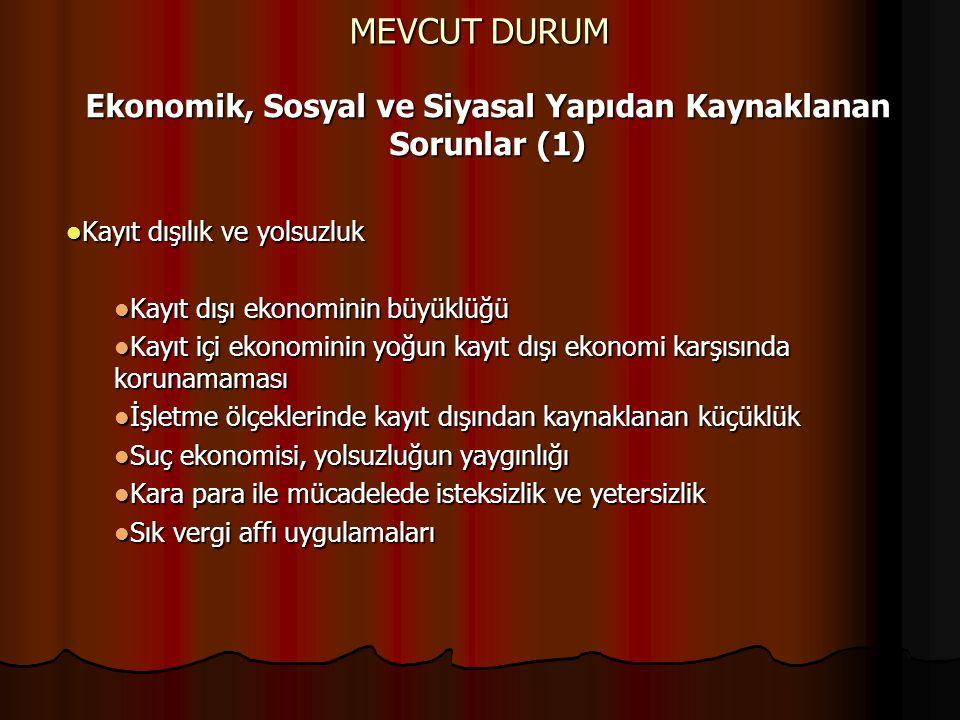 Ekonomik, Sosyal ve Siyasal Yapıdan Kaynaklanan Sorunlar (1)