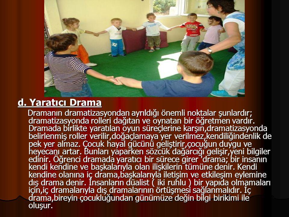 d. Yaratıcı Drama