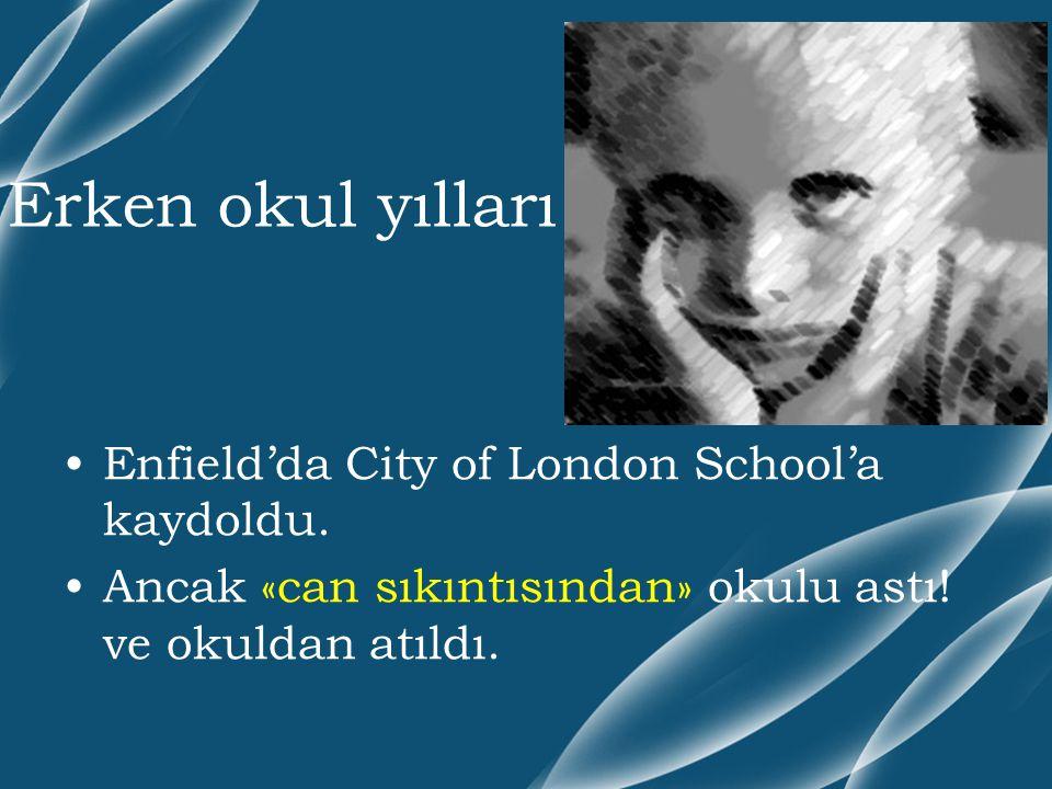 Erken okul yılları Enfield'da City of London School'a kaydoldu.
