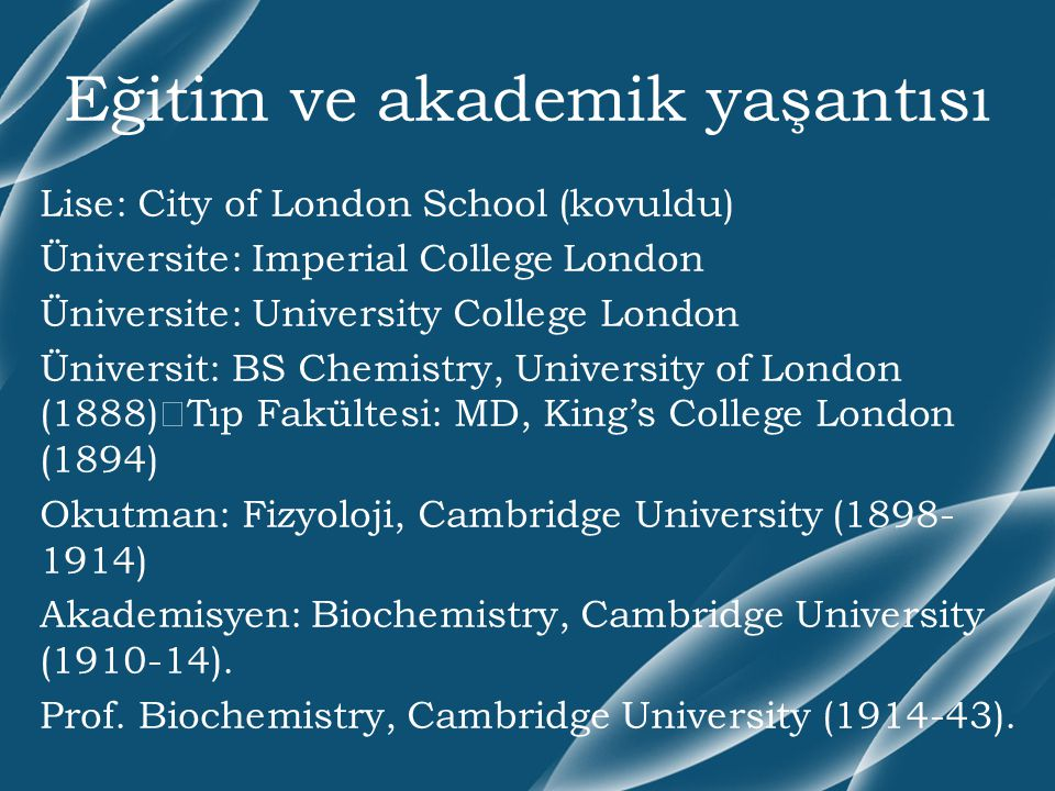 Eğitim ve akademik yaşantısı