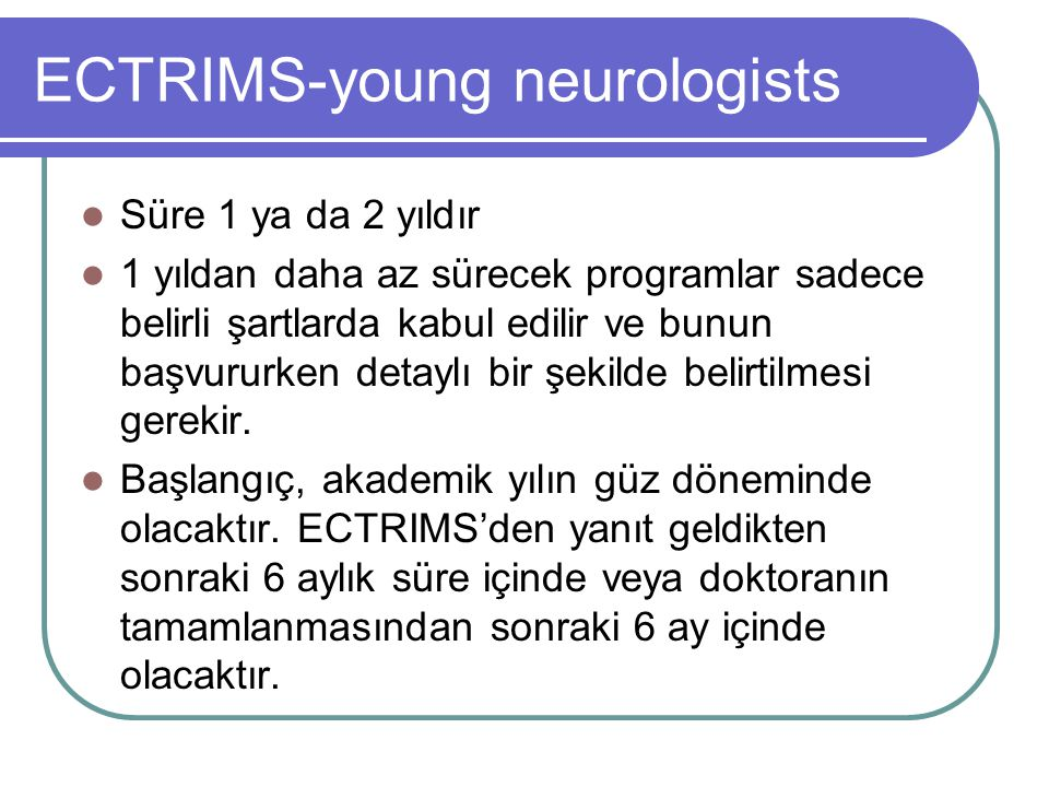 ECTRIMS-young neurologists
