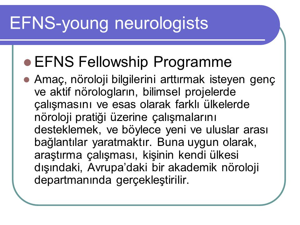 EFNS-young neurologists