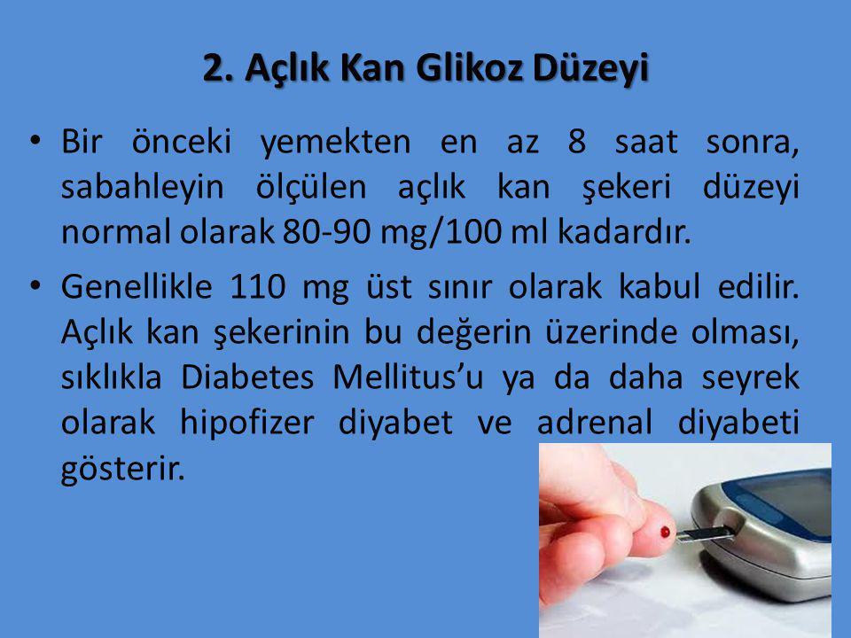 2. Açlık Kan Glikoz Düzeyi