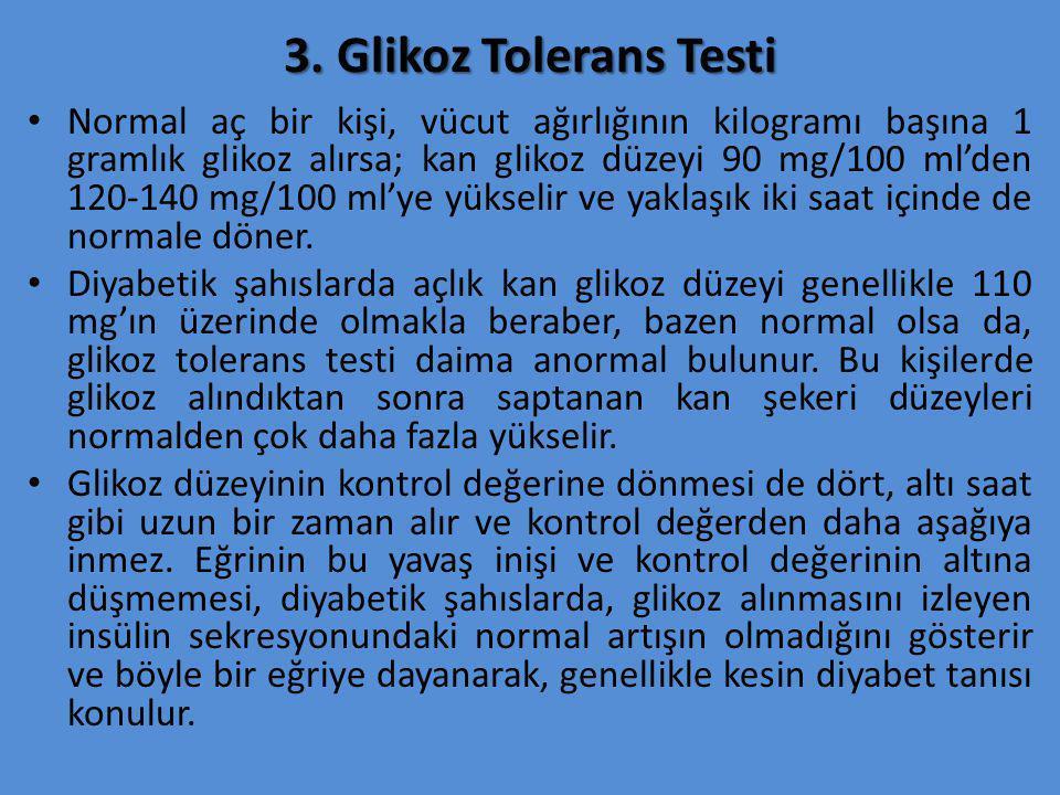 3. Glikoz Tolerans Testi