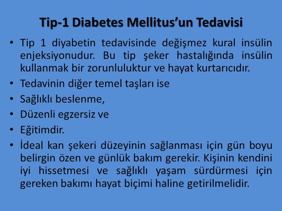 Tip-1 Diabetes Mellitus'un Tedavisi