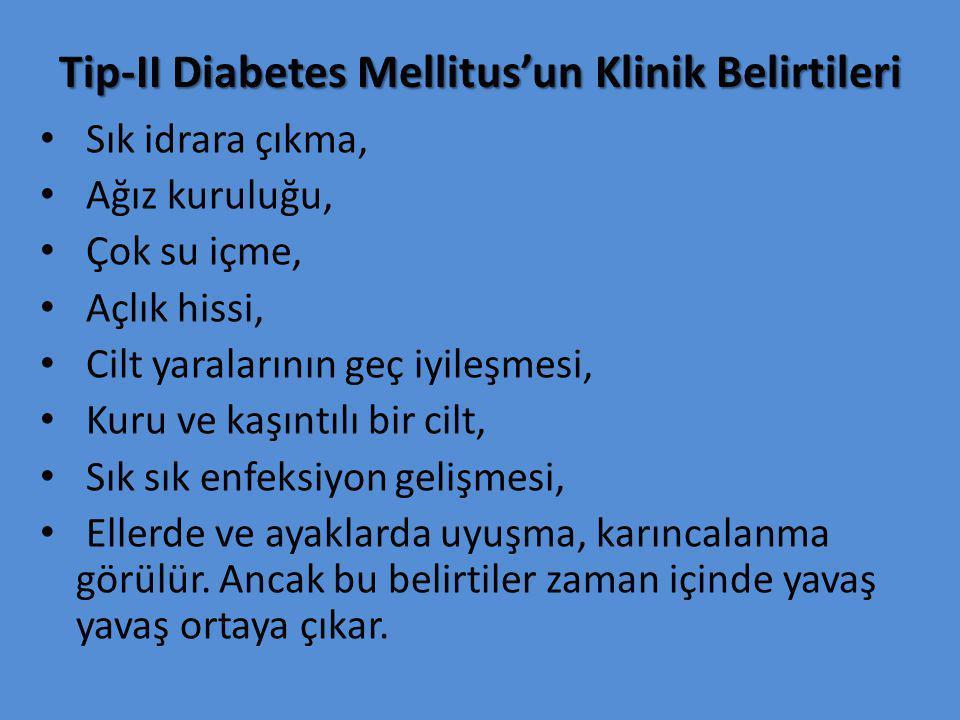 Tip-II Diabetes Mellitus'un Klinik Belirtileri