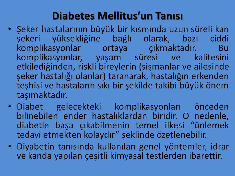 Diabetes Mellitus'un Tanısı