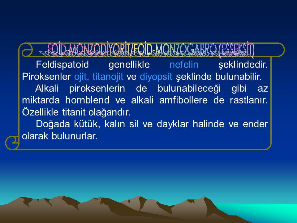 FOİD-MONZODİYORİT/FOİD-MONZOGABRO (ESSEKSİT)