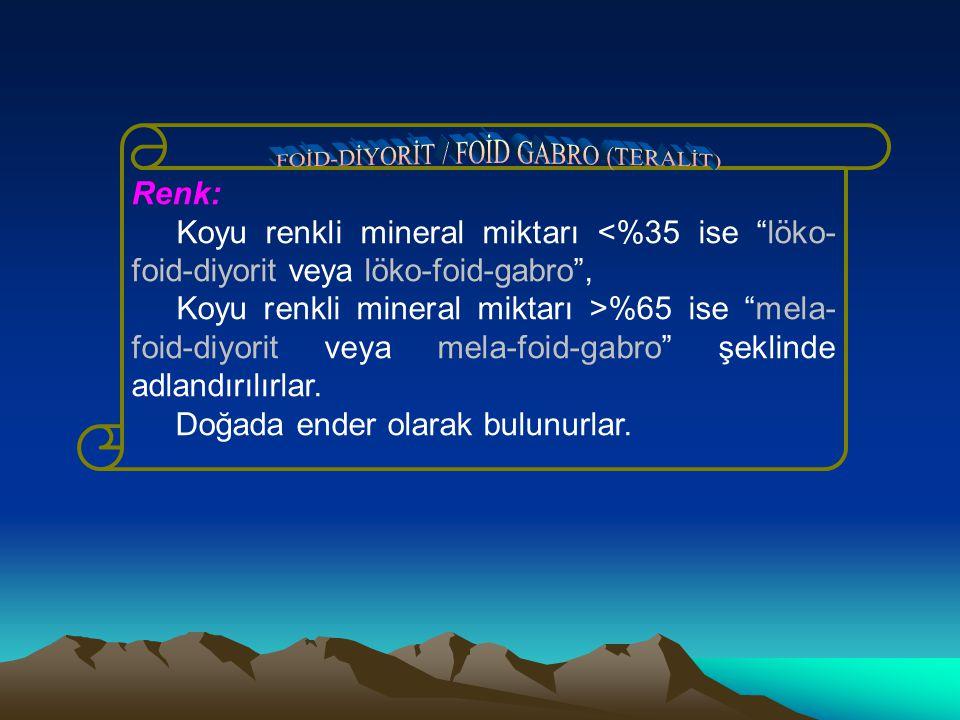 FOİD-DİYORİT / FOİD GABRO (TERALİT)