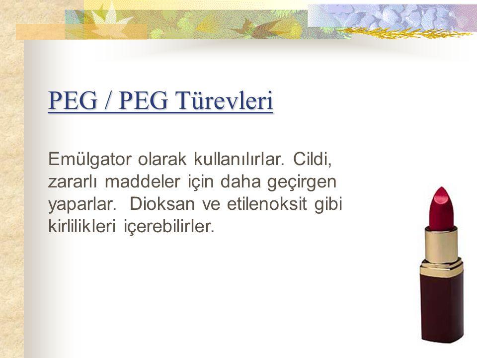 PEG / PEG Türevleri