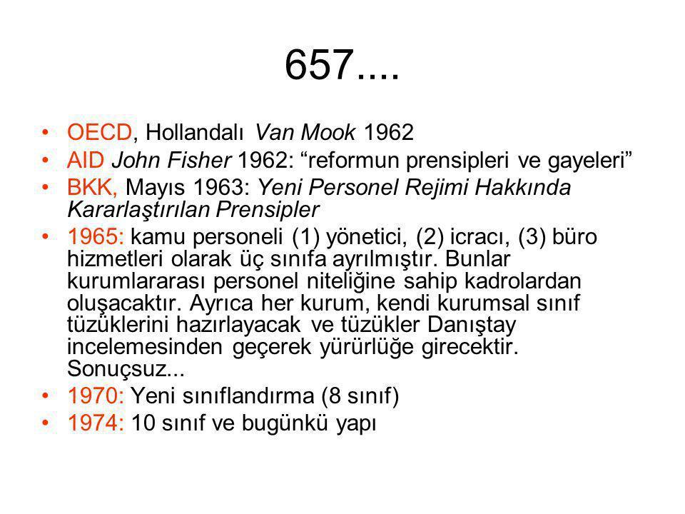 657.... OECD, Hollandalı Van Mook 1962