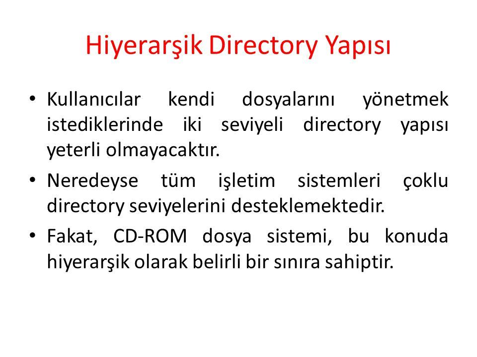 Hiyerarşik Directory Yapısı