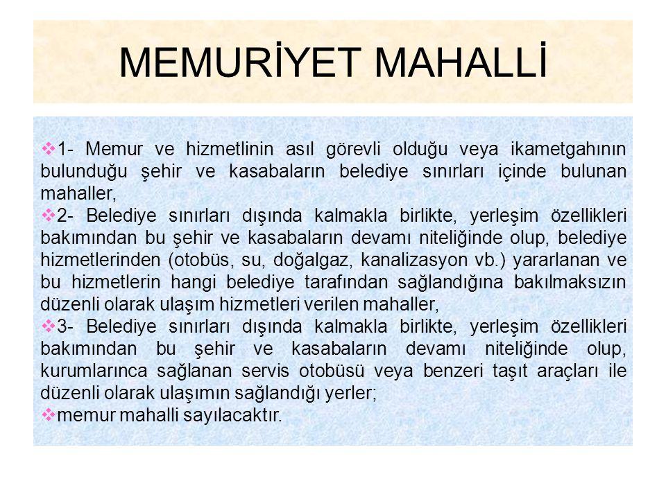 MEMURİYET MAHALLİ