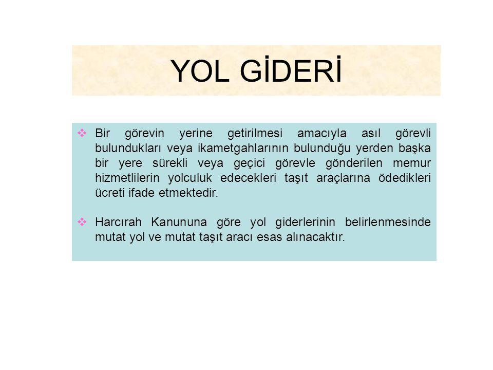 YOL GİDERİ
