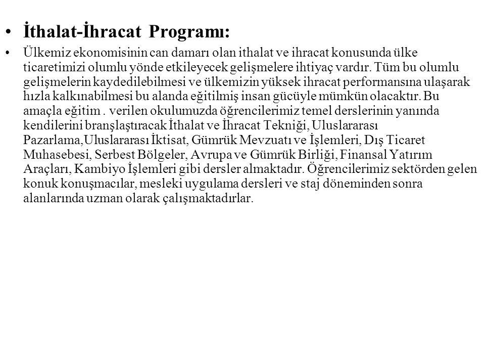 İthalat-İhracat Programı: