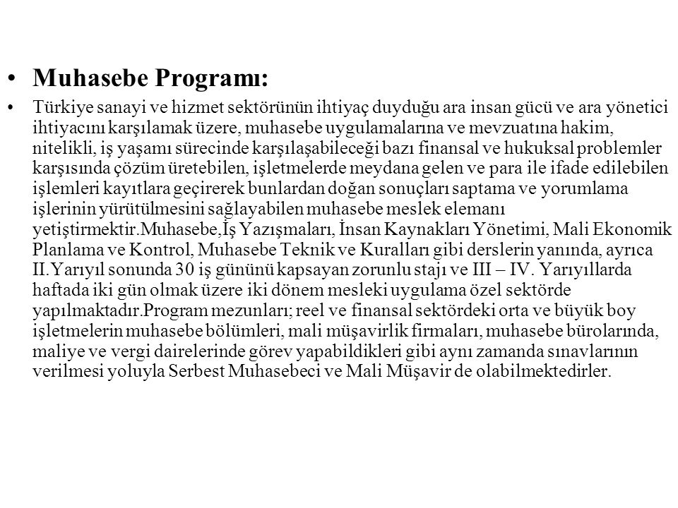 Muhasebe Programı: