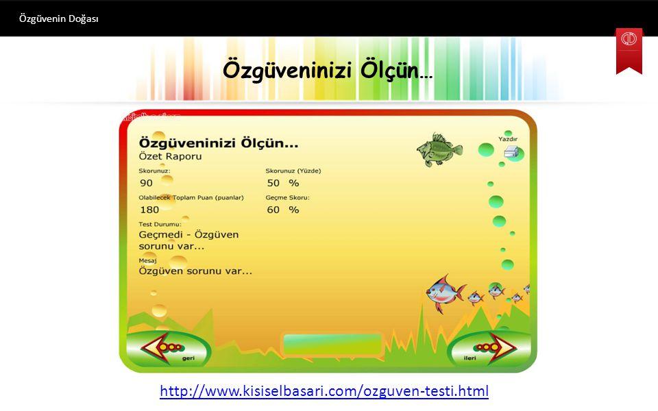 Özgüveninizi Ölçün… http://www.kisiselbasari.com/ozguven-testi.html